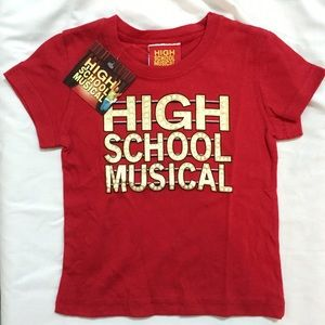 Disney Other - Disney's High School Musical Marquee Red T-Shirt