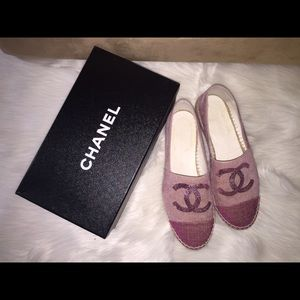 Chanel Espadrilles pink with pink sequin size 40