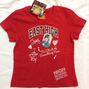 Disney Other - Disney's High School Musical Troy Red T-Shirt
