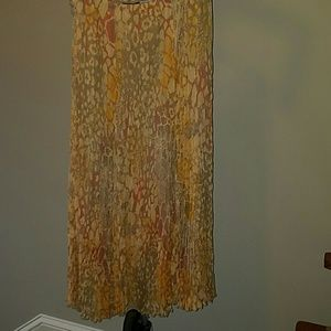 Multicolored Crinkle Skirt