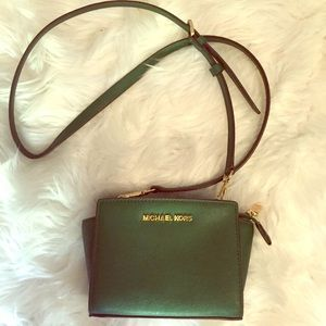 Michael Kors Green Mini Crossbody