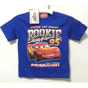 Disney Other - Disney's Cars Lightning McQueen Blue Boys T-Shirt
