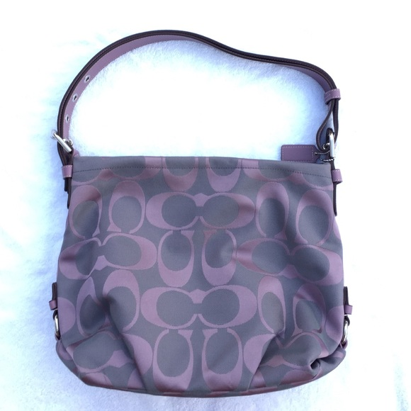 71a3cb7fa0f3 Coach Handbags - Gray and Purple Coach Purse