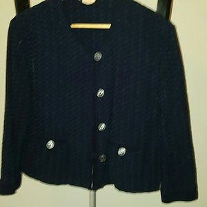 Vintage navy crop jacket