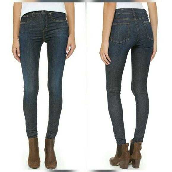Rag & Bone Skinny Jeans 10 inch High Rise Haight