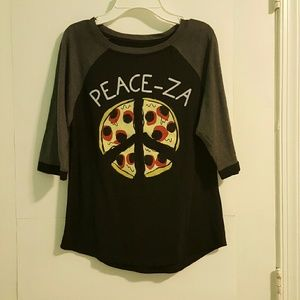 2KUHL Tops - Peace-za Pizza Graphic T-shirt- New w/o tags