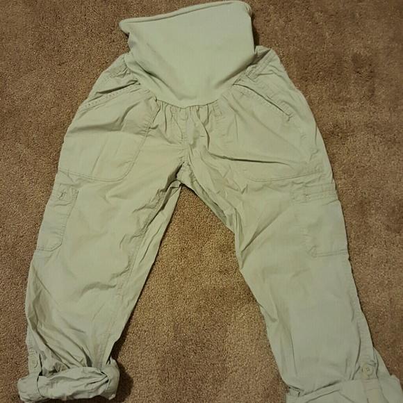 Buttons Up To Capris Motherhood Cargo Pants Medium