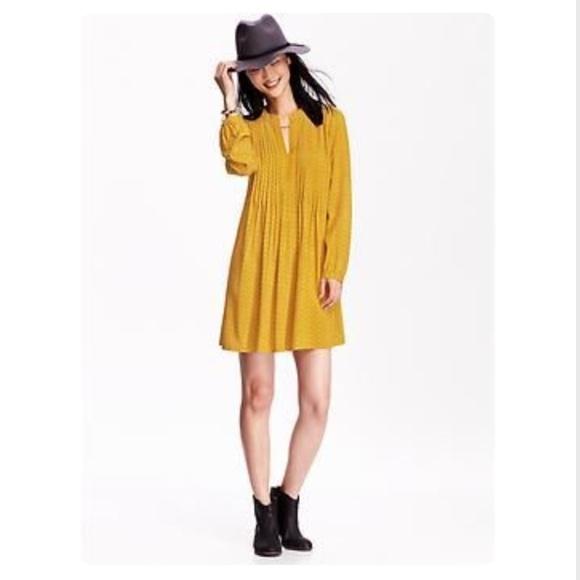 9b5abfa21b Old Navy Pintuck Swing Dress Sold Out Print! M 57df25df4e8d1767e3013dd4