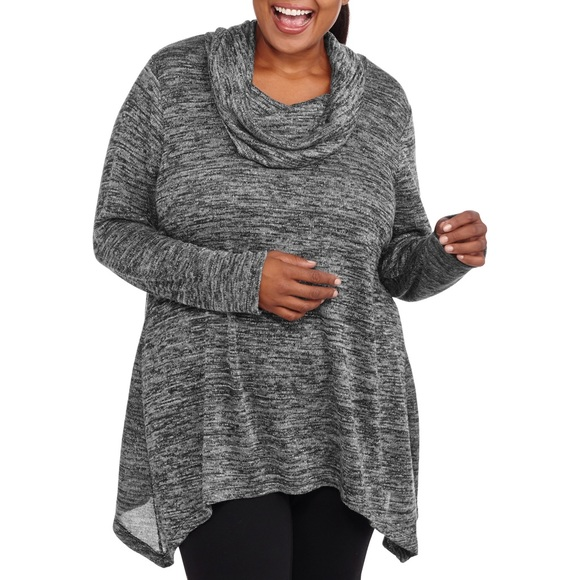 Faded Glory - Plus size lightweight cowl neck tunic, size 16W from ...