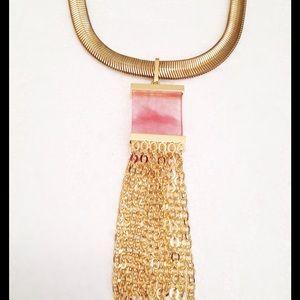 Jewelry - HP Strawberry Quartz Tassel Necklace