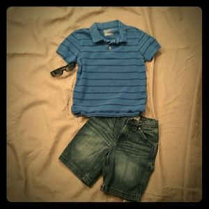 Other - Outfit! Boys Polo Shirt and Denim Shorts