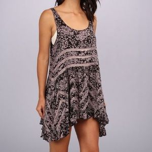 Free People printed floral trapeze slip sundress