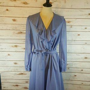 {vintage} Cerulean blue dress