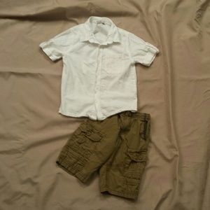 Other - Outfit! Boys Button Shirt and Shorts