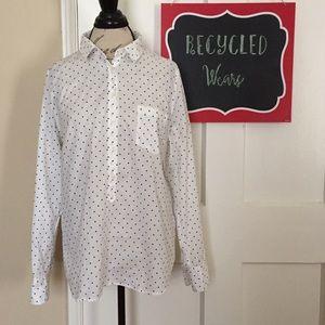 J.Crew Factory Polka Dot Long Sleeve Shirt