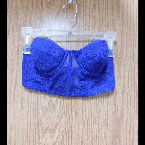 a2b872250ba94 Forever 21 Other - Glamorous Royal Blue Lace Bralette Bra Strapless
