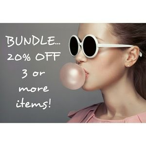 20% OFF 3 ITEMS  -  BUNDLE DISCOUNT!