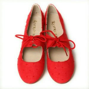Restricted Shoes - Restricted-Red flats
