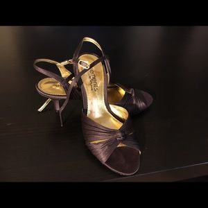 Elements by Nina Shoes - *bundle 3 for $20* Brown satin heels