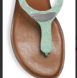 e2242a190da6 Michael Kors Shoes - 💗HP💗 Michael Kors Leather Plate Thong Celadon 6