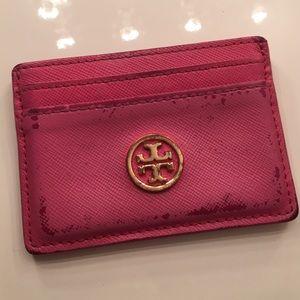 Tory Burch Pink Card Case