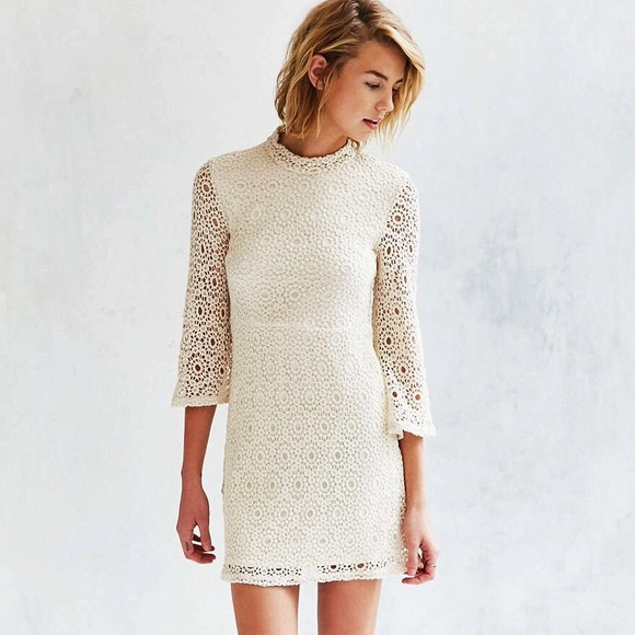 ecd196bee6 NWT UO Crochet Lace Mock Neck Dress by Cooperative