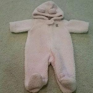 Carter's Other - Newborn Carter's footed fuzzy bear onesie