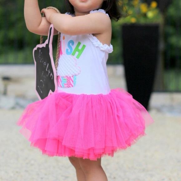 Birthday Wish Pink Tutu Dress 3t From Mud Pie M 57df450356b2d6ff5a0185f0