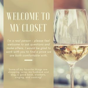 Other - I'm a real person. Stop by, chat, shop, and sip 🍷