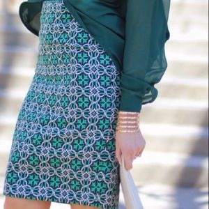 J. Crew Lattice Medallion Pencil skirt. Size 4.