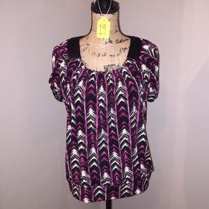 Black/Pink blouse