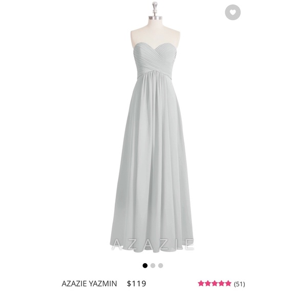 f5610aae4e Azazie Yazmin Bridesmaid Dress in Silver