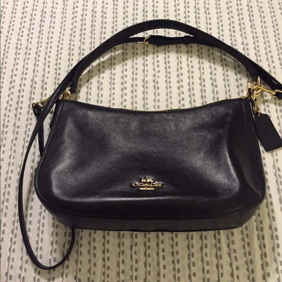 Coach Bags Brand New Chelsea Crossbody In Black Leather