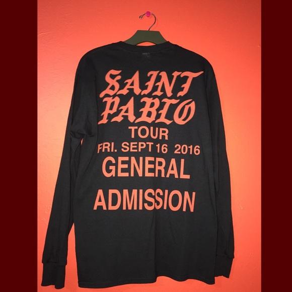 Kanye West Tour Merch Shirts Saint Pablo General