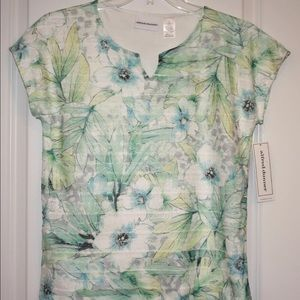 Alfred Dunner Tropical Lace Blouse