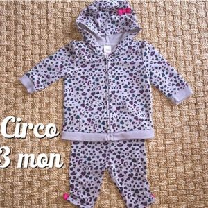 Circo Gray Leopard Colorful Sweat Outfit 3 Mon