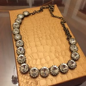 New Gold & Crystal J. Crew Statement Necklace