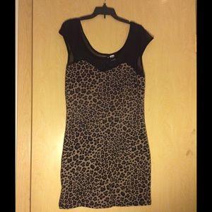 Cheetah print bodycon dress