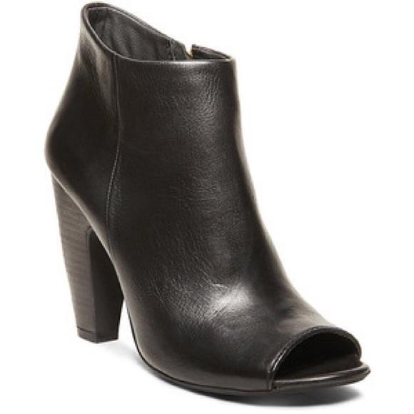 b864984f32e STEVE MADDEN, Black Paulina Peep Toe Ankle Bootie