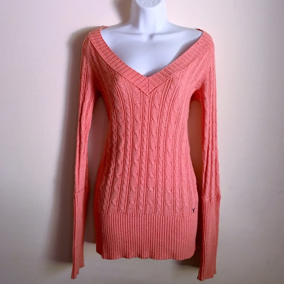 American Eagle Outfitters - 🚫SOLD {AE} Fitted Cable Knit V-neck ...