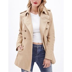 Forever 21 Jackets & Blazers - Forever21 Cotton Twill Trench Coat