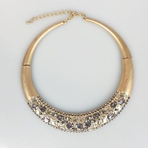 Macy's Gold-Tone Crystal Collar Necklace