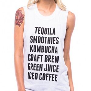 Suburban Riot tequila smoothies muscle tee tank