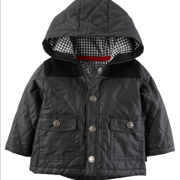 Carter's Other - Carter's Boys 3 months quilted cardigan coat NWT