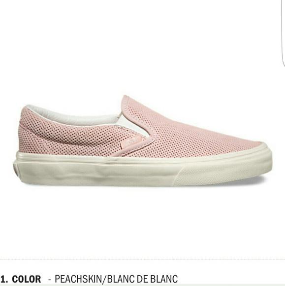 73adfb2515 PERF SUEDE PEACHSKIN (pink) SLIP ON VANS. M 57df8f352de5124bcf001f95