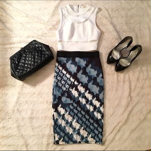 Zara Dresses & Skirts - NWT ZARA 💋 ABSTRACT PENCIL SKIRT