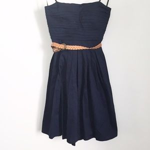 Dresses & Skirts - Navy blue strapless dress