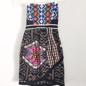 Xhilaration Dresses & Skirts - Aztec print strapless dress