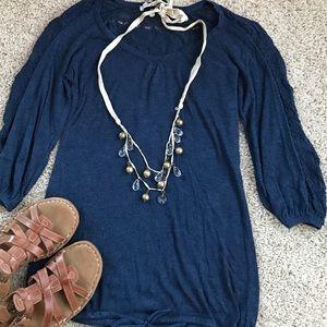 American Rag Tops - American Rag 3/4 sleeve sweater