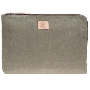 """Will Leather Goods Handbags - WILL Leather Goods Waxed Canvas 15"""" Laptop Case"""